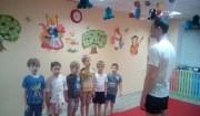 Занятие по дзюдо в детском блубе Радуга
